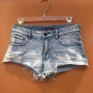 Kendall & Kylie denim cut off shorts.